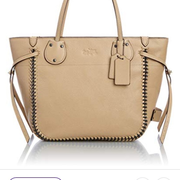 Coach Handbags - Coach Nude Whiplash Leather Tatum tote